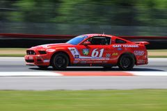 Mustang race car Royalty Free Stock Image