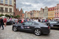 Mustang Race start in Wroclaw, Poland Stock Photography