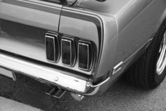 Mustang Rear End Royalty Free Stock Images