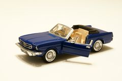 Mustang Replica. Picture of a miniature replica of a toy mustang car stock photography