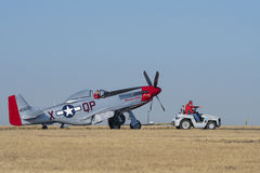 Mustang Sally taxiing Stock Photography