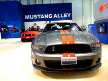 Mustang Shelby GT500. ABU DHABI, UAE - DECEMBER 10: Mustang Shelby GT500 on display during Abu Dhabi Int'l Motor Show 2010 at Abu Dhabi Int'l Exhibition Centre Stock Images