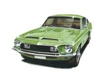 Mustang Shelby 500KR illustration libre de droits
