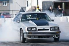 Mustang smoke show Stock Photography