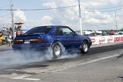 Mustang smoke show Stock Image