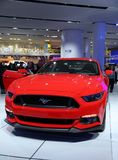 Mustang track at the auto show Royalty Free Stock Photos
