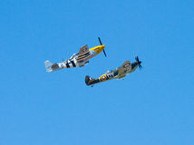 Mustang und Spitfire Lizenzfreies Stockfoto