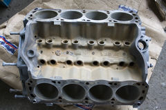 Mustang V8 engine block Stock Photos
