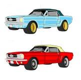 Mustangautos Stockfotos