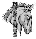 Mustangmaskot vektor illustrationer