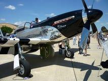 Mustango de plata rápido Imagenes de archivo