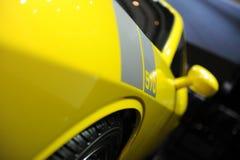 Mustango 570, funcionamiento estupendo de Saleen, amarillo Foto de archivo libre de regalías