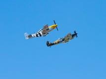 Mustango y Spitfire Foto de archivo libre de regalías