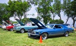 Mustangos en la demostración auto 2011 de la playa Imagen de archivo libre de regalías