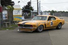 Mustangraceauto Stock Afbeelding