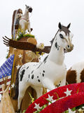 Mustangs Foundation 2011 Rose Parade Float Stock Photo