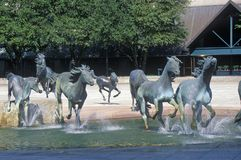 Mustangs of Los Colinas, Worlds largest Equestrian sculpture, Los Colinas, TX Royalty Free Stock Photos
