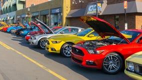 ` Mustangsteeg `, bij de Woodward-Droomcruise Royalty-vrije Stock Afbeelding