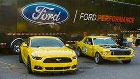 ` Mustangsteeg `, bij de Woodward-Droomcruise Stock Afbeeldingen