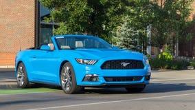` Mustangsteeg `, bij de Woodward-Droomcruise Royalty-vrije Stock Foto