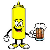 Mustard with a Beer Stock Photos