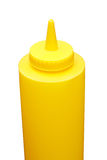 Mustard bottle. Isolated on a white background Stock Photography