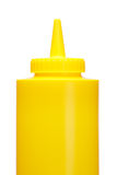 Mustard bottle. Isolated on a white background Royalty Free Stock Photo