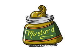 MUSTARD BOTTLE, illustration Royalty Free Stock Images