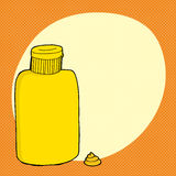 Mustard Bottle Over Orange Royalty Free Stock Image