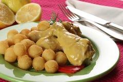 Mustard chicken Royalty Free Stock Photography
