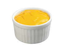 Mustard (with clipping path). Mustard in a Ramekin with a clipping path isolated on white. Full focus front & back. Isolation is on a transparent layer in the stock photo