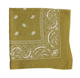 Mustard color bandanna Stock Photo