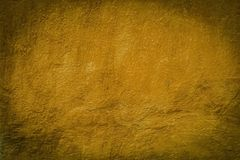 Painted In Mustard Color Concrete Surface Stock Photo