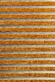 Mustard Color Vertical Line Fabric Texture Stock Images