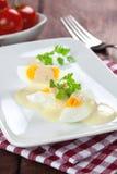 Mustard eggs Stock Photography