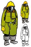 Mustard Gas Protective Gear Stock Photography