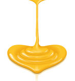Mustard heart-shaped flow with clipping path Stock Images