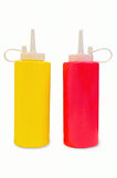 Mustard and Ketchup Bottles Stock Photography