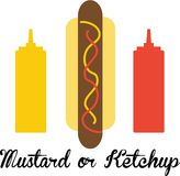 Mustard or Ketchup Royalty Free Stock Photos