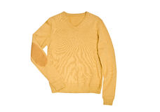 Yellow male pullover isolated on white background Stock Images