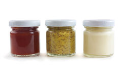 Mustard, mayo and sauce Royalty Free Stock Photography