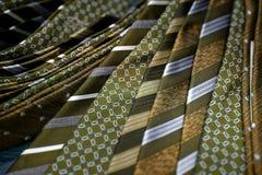 Mustard men's ties Stock Photos
