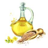 Mustard oil Stock Photo