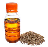 Mustard oil with Zira Stock Images