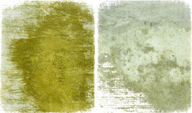 Mustard paint and grey cement Stock Photography
