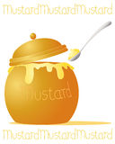 Mustard pot Stock Photography