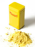 Mustard powder Royalty Free Stock Photography