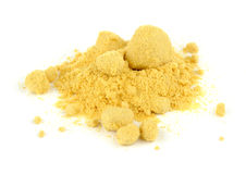 Mustard Powder  on White Background Stock Photos
