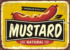 Free Mustard Promotional Retro Label Design Royalty Free Stock Images - 102718279