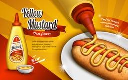Mustard sauce ad Royalty Free Stock Image